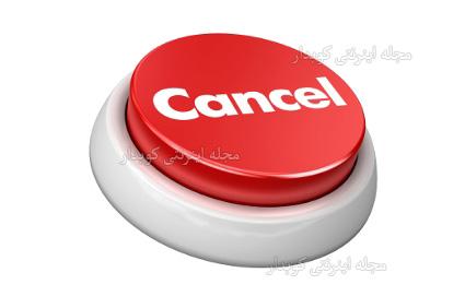 504 واژه ضروری انگلیسی - معنی واژه cancel با استفاده از عکس و تصاویر